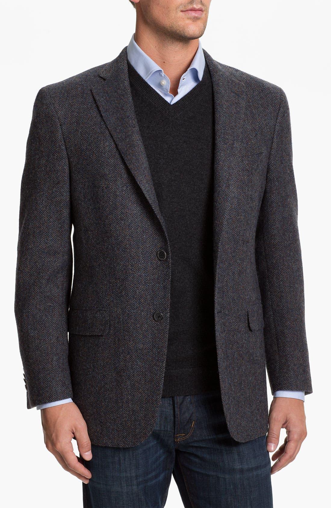 Alternate Image 1 Selected - Hart Schaffner Marx Herringbone Sportcoat