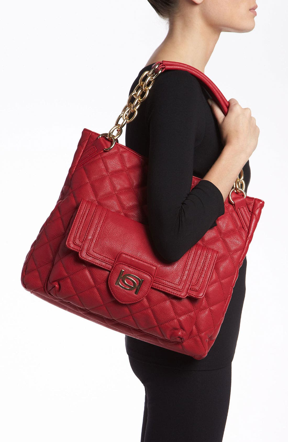 Alternate Image 2  - bebe 'Darcy' Quilted Tote