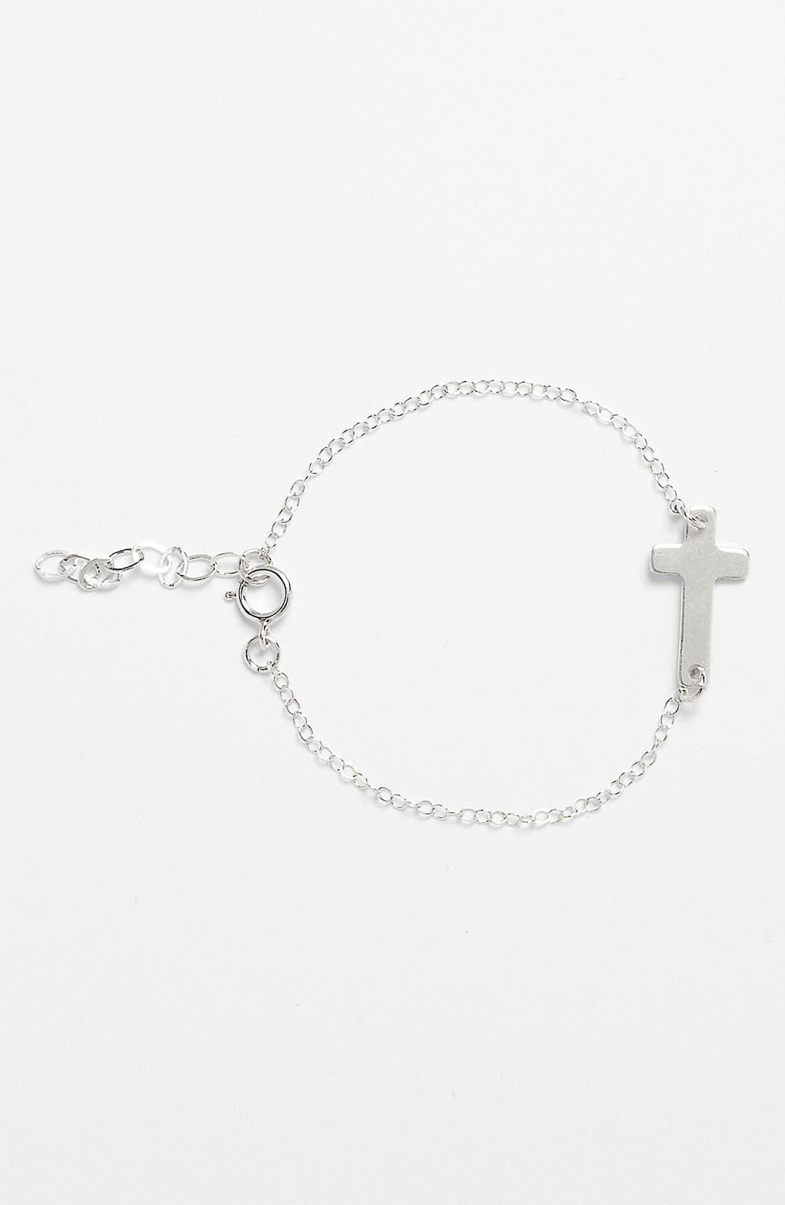 Alternate Image 1 Selected - Abela Designs Sideways Cross Bracelet (Girls)