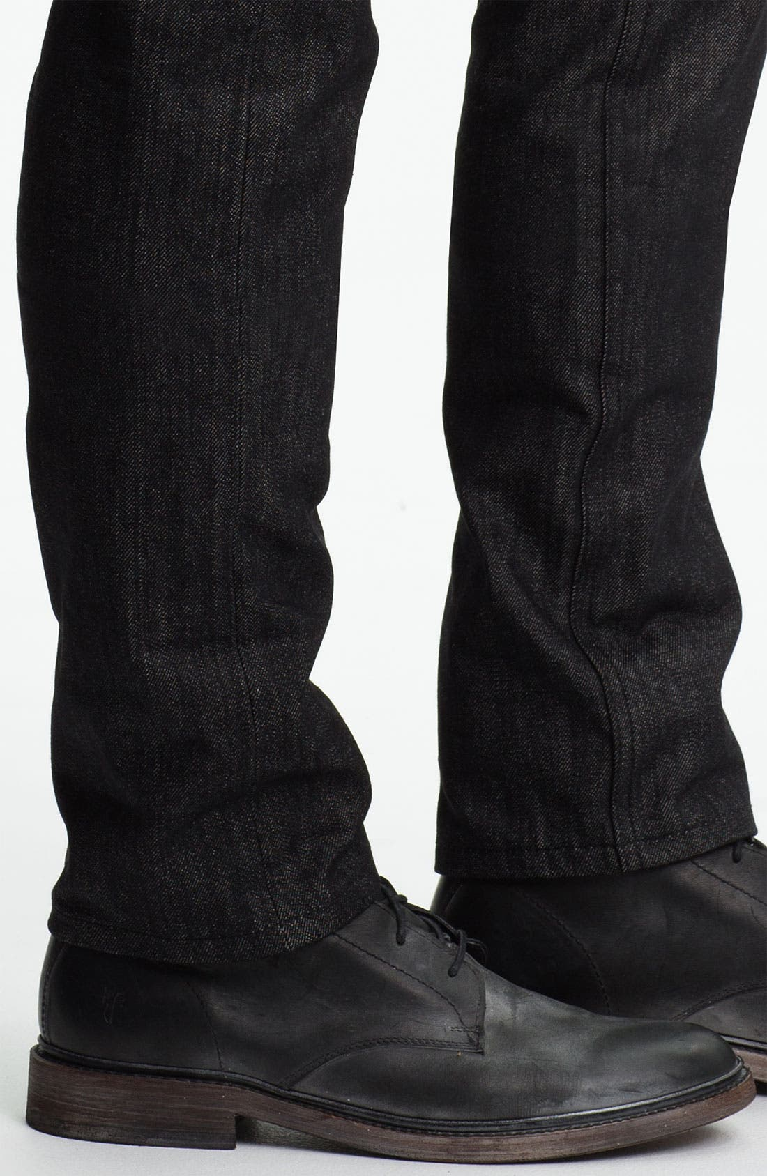 Alternate Image 4  - The Unbranded Brand Skinny Fit Selvedge Jeans (Black)