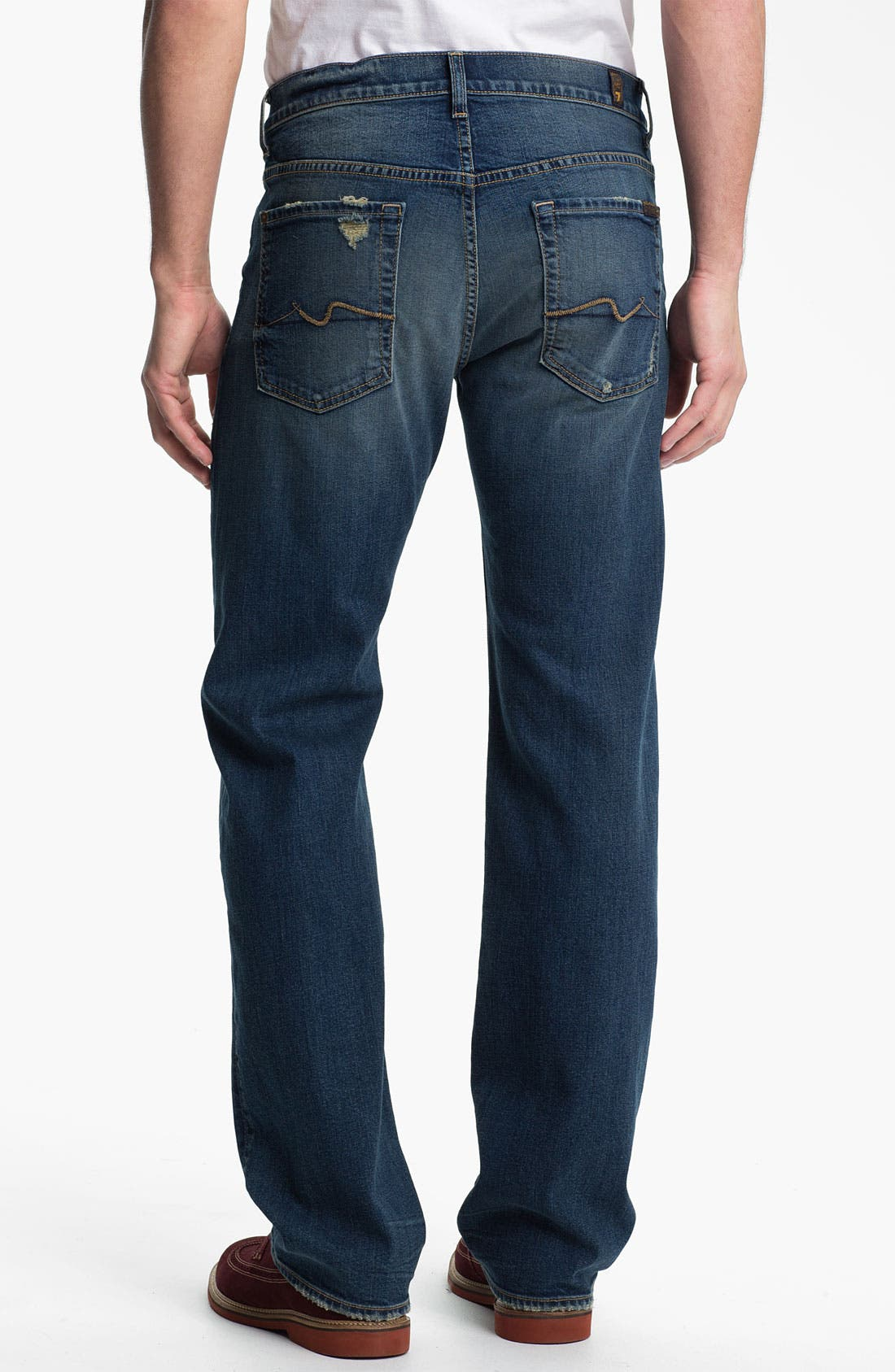 Alternate Image 2  - 7 For All Mankind® 'Austyn' Relaxed Straight Leg Jeans (Ocean Mist)