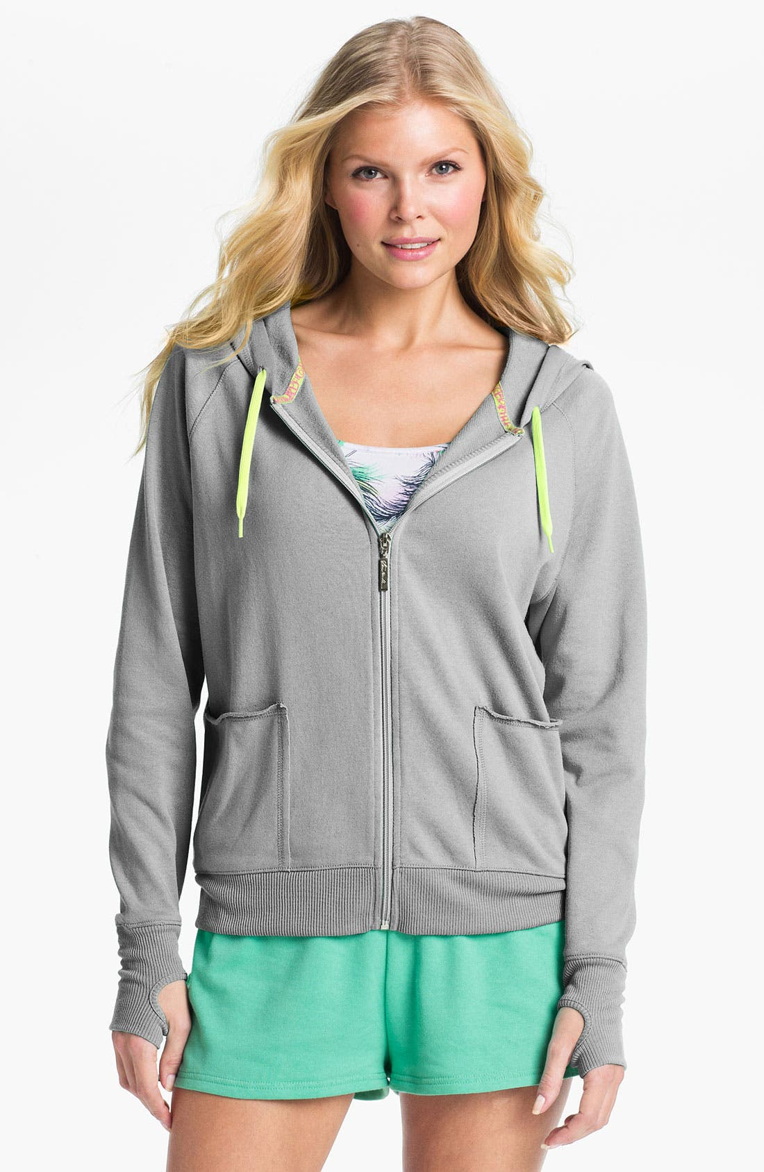 Alternate Image 1 Selected - Steve Madden 'Lounge Love' Zip Hoodie