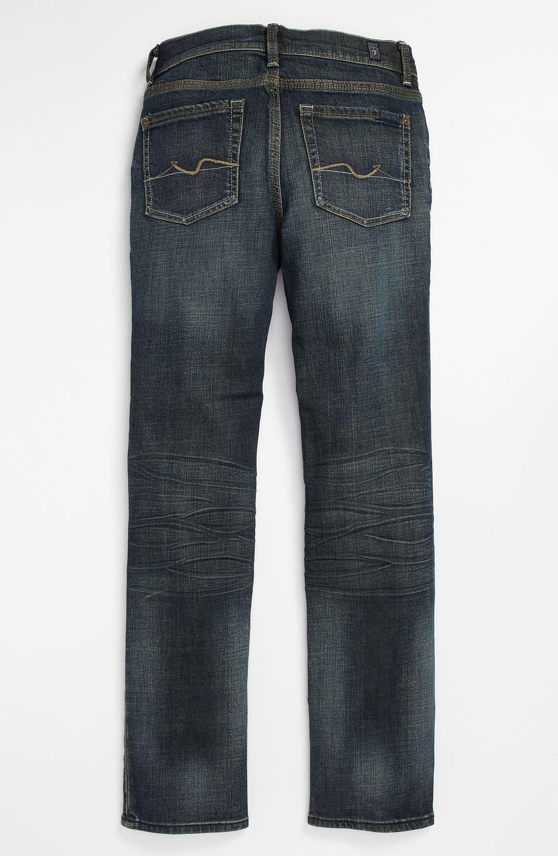Main Image - 7 For All Mankind® 'Rhigby' Skinny Straight Leg Jeans (Big Boys)