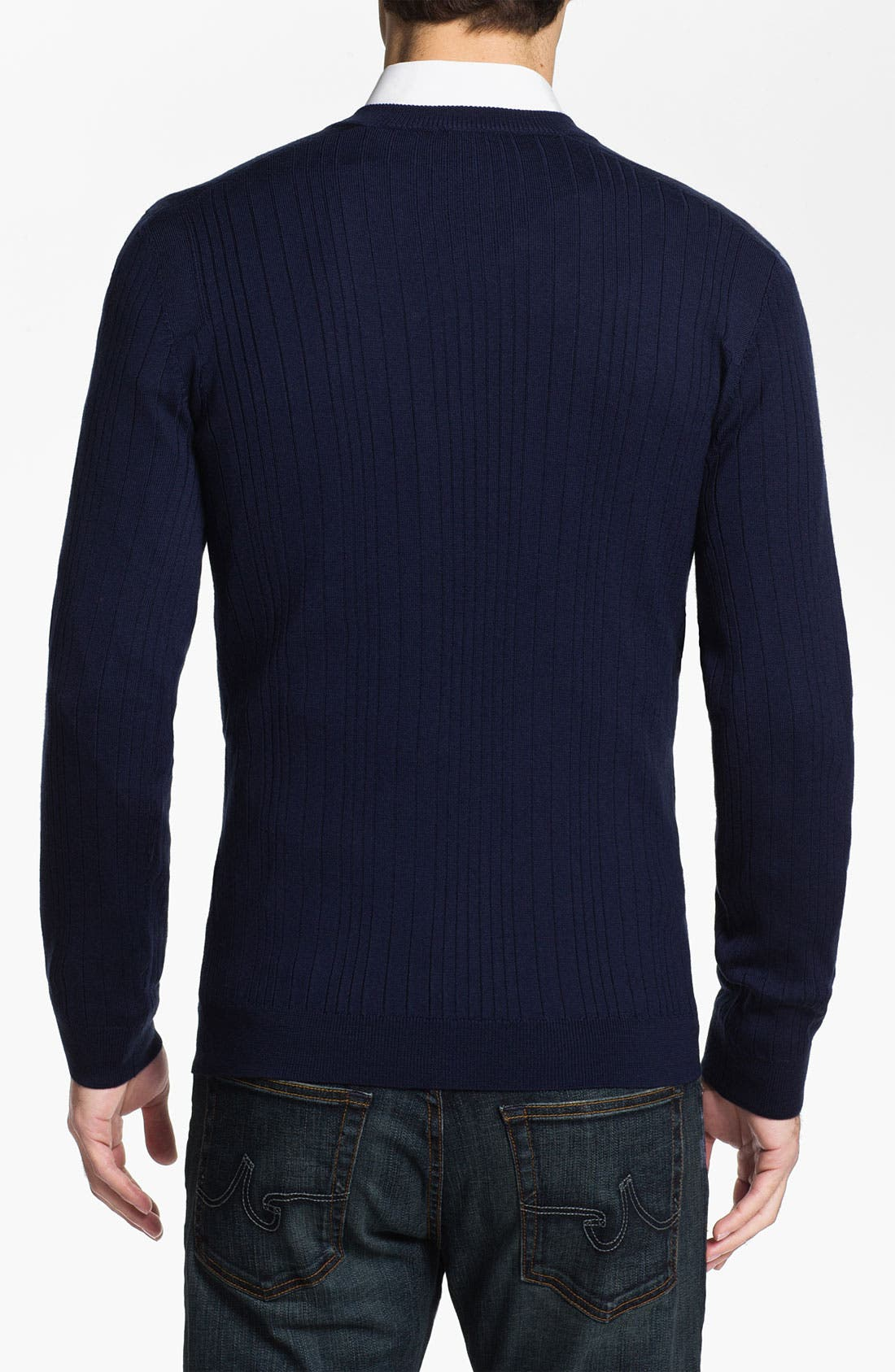 Alternate Image 2  - HUGO 'Sagaro' V-Neck Wool Sweater