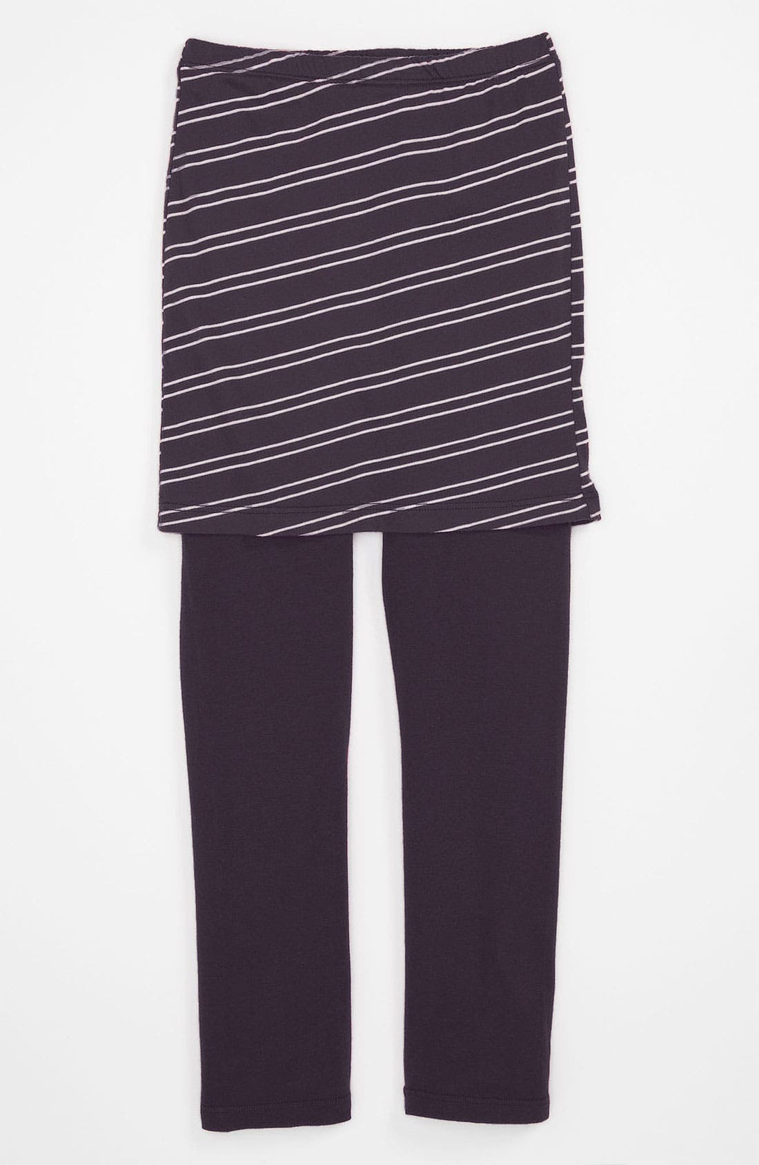 Alternate Image 1 Selected - Joah Love Stripe Skirt Leggings (Little Girls & Big Girls)