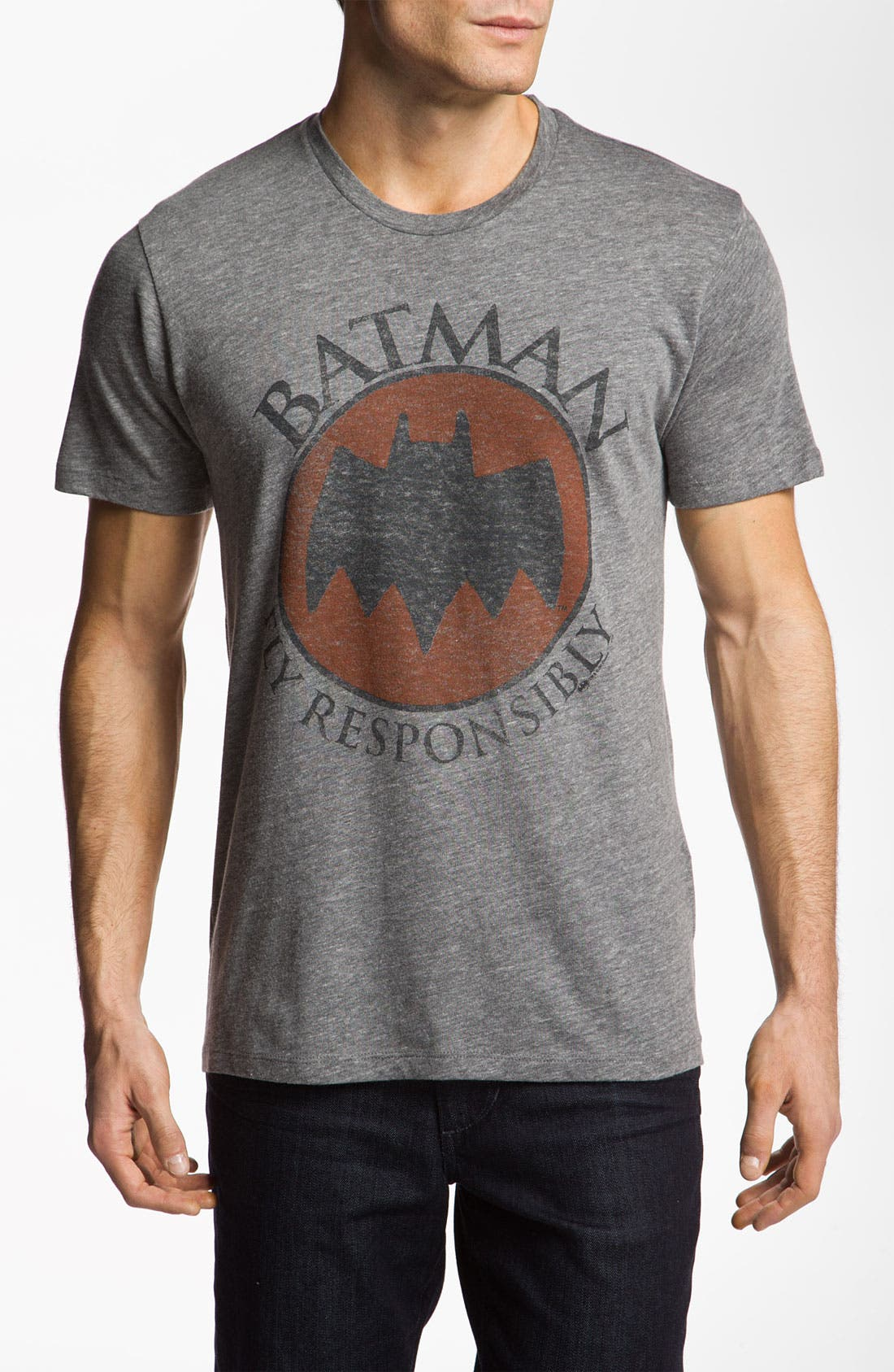 Alternate Image 1 Selected - Junk Food 'Batman - Fly Responsibly' T-Shirt