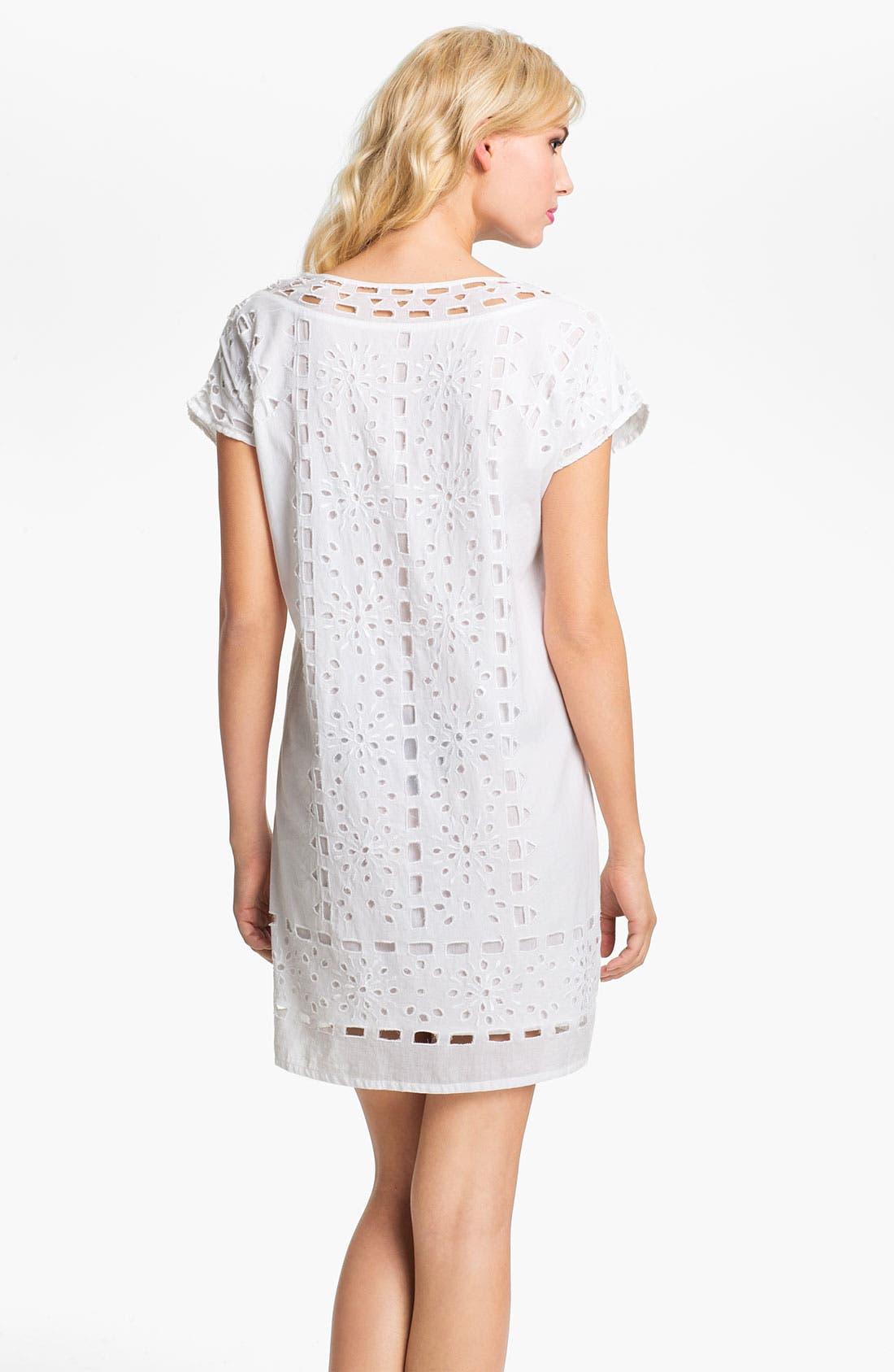 Alternate Image 2  - MICHAEL Michael Kors Eyelet Shift Dress