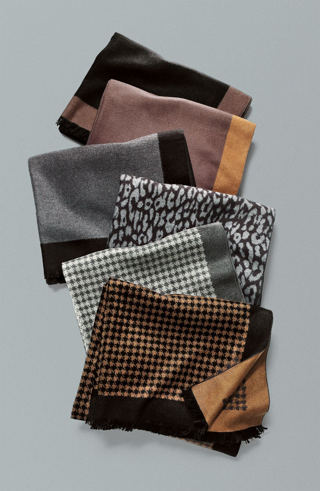 Alternate Image 2  - Chelsey Imports Houndstooth Woven Silk Wrap