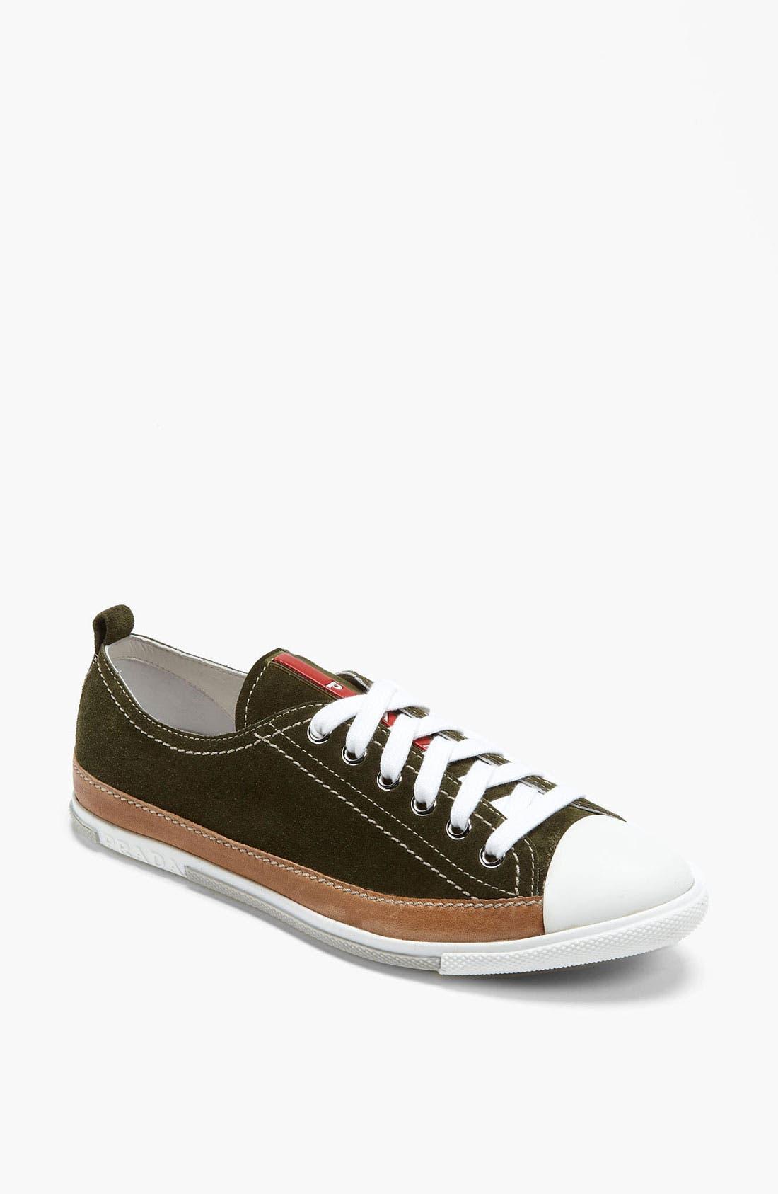 Alternate Image 1 Selected - Prada Suede Sneaker
