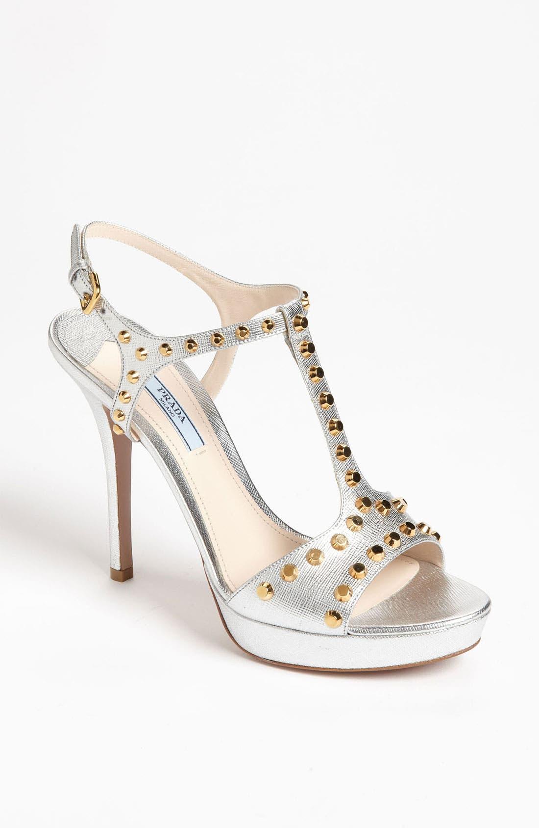 Main Image - Prada Studded T-Strap Sandal