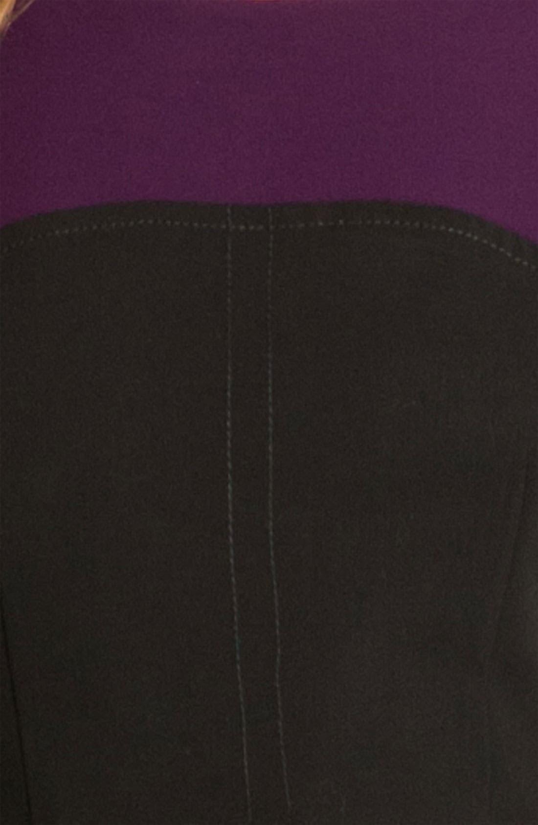 Alternate Image 3  - Calvin Klein Colorblock Belted Sheath Dress (Petite)