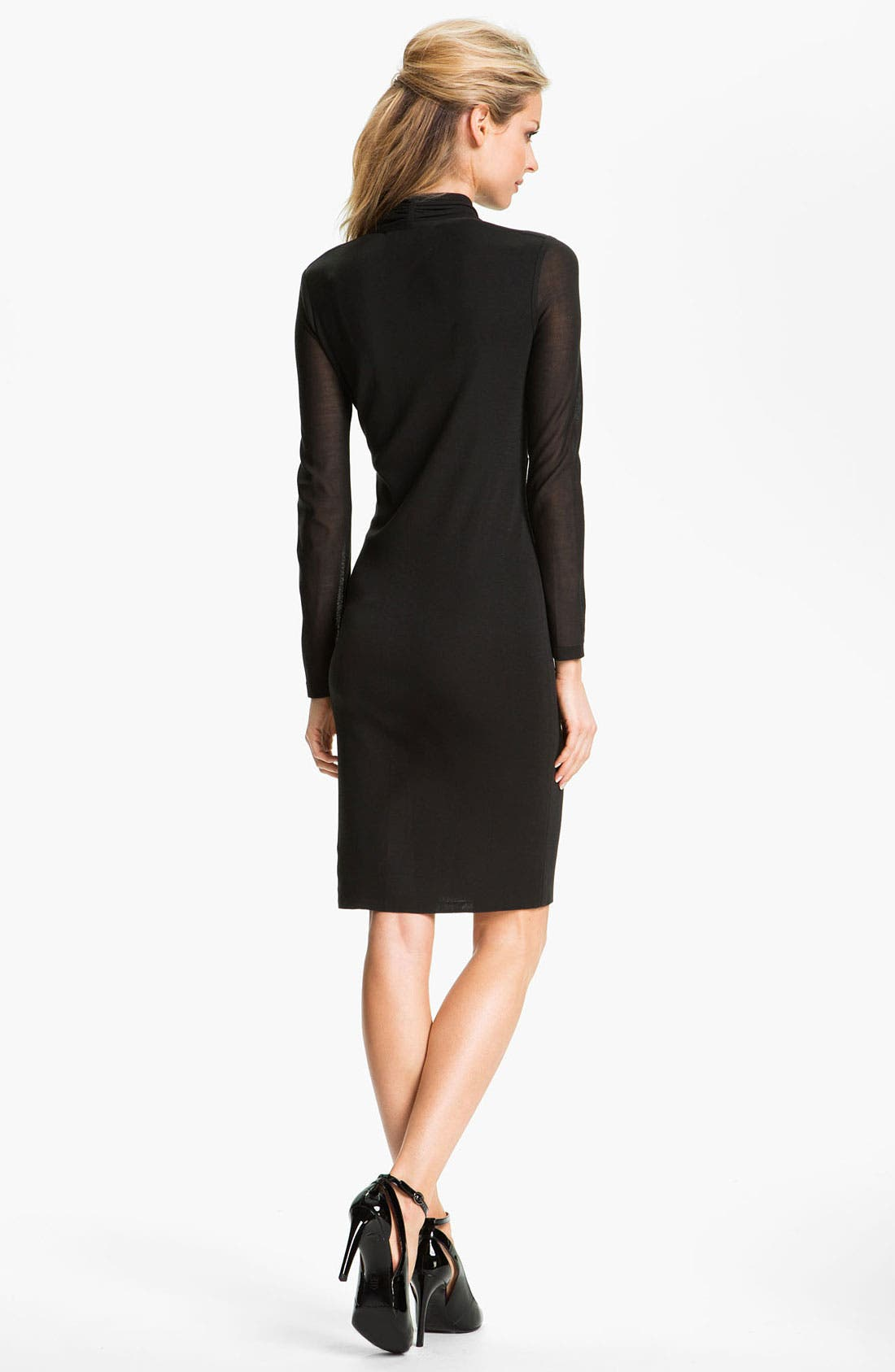 Alternate Image 2  - Exclusively Misook Long Sleeve Surplice Dress