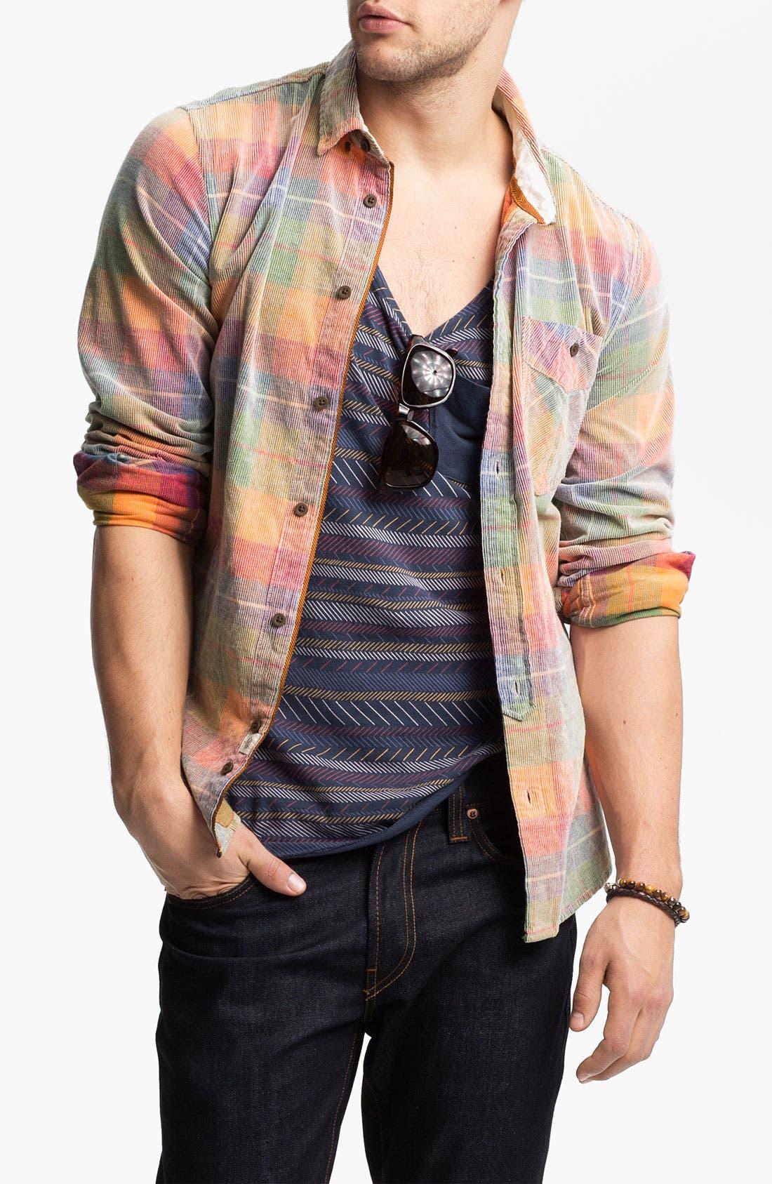 Main Image - Zanerobe 'Yellowstone' Plaid Corduroy Shirt