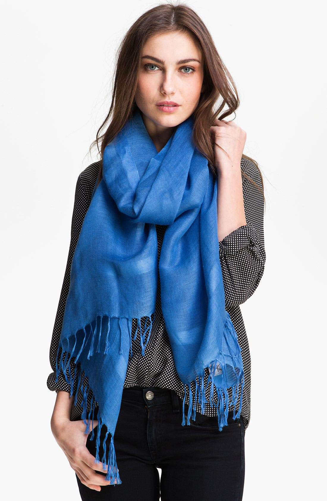 Alternate Image 1 Selected - Nordstrom Linen Blend Scarf
