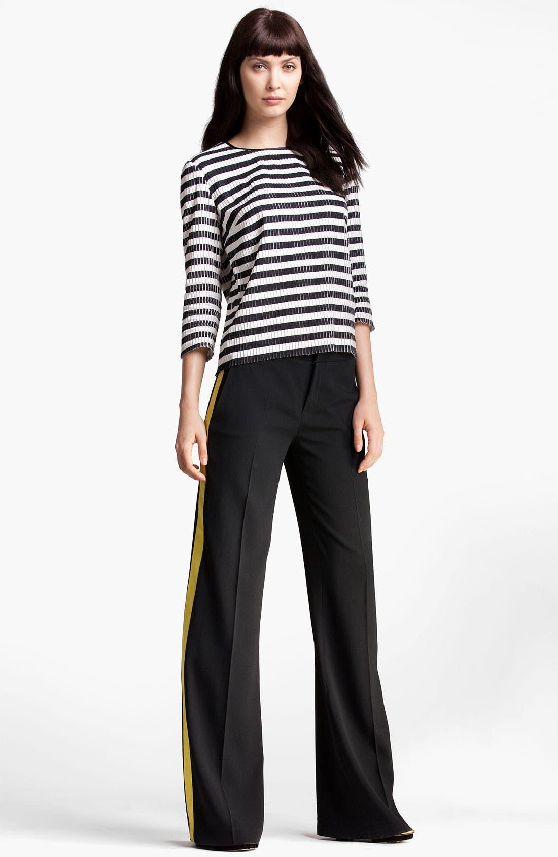 Alternate Image 4  - MSGM Stripe Silk & Cotton Top