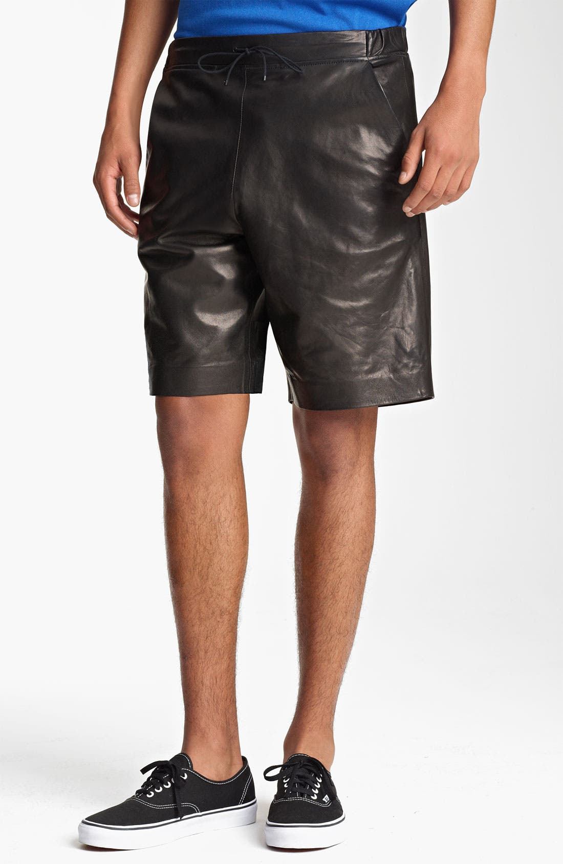 Alternate Image 1 Selected - T by Alexander Wang Leather Shorts