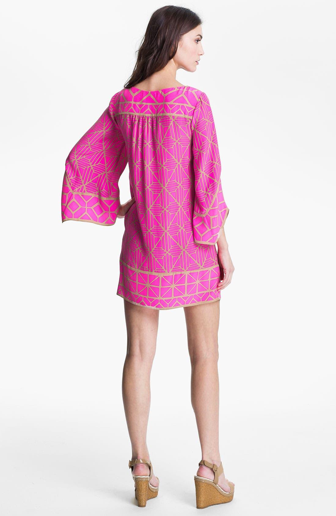 Alternate Image 2  - ALICE & TRIXIE 'Jillian' Bell Sleeve Silk Tunic Dress