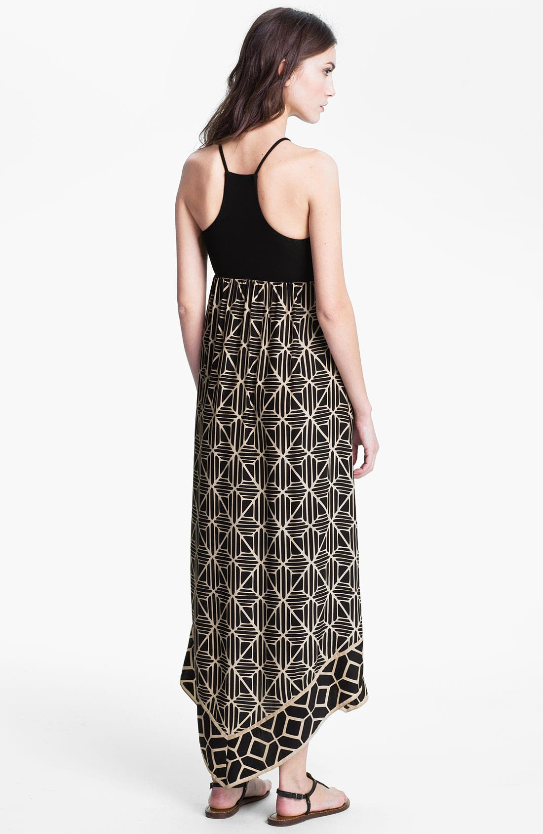Alternate Image 2  - ALICE & TRIXIE 'Renay' Racerback Printed Silk Maxi Dress