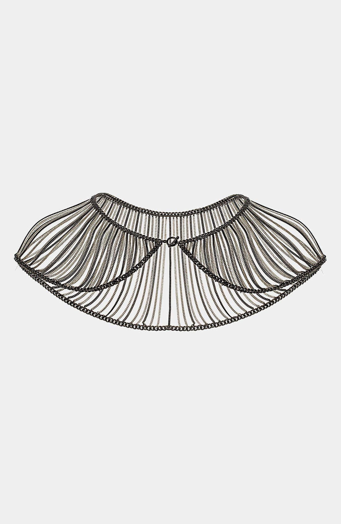 Alternate Image 1 Selected - Topshop Chain Drape Collar Necklace