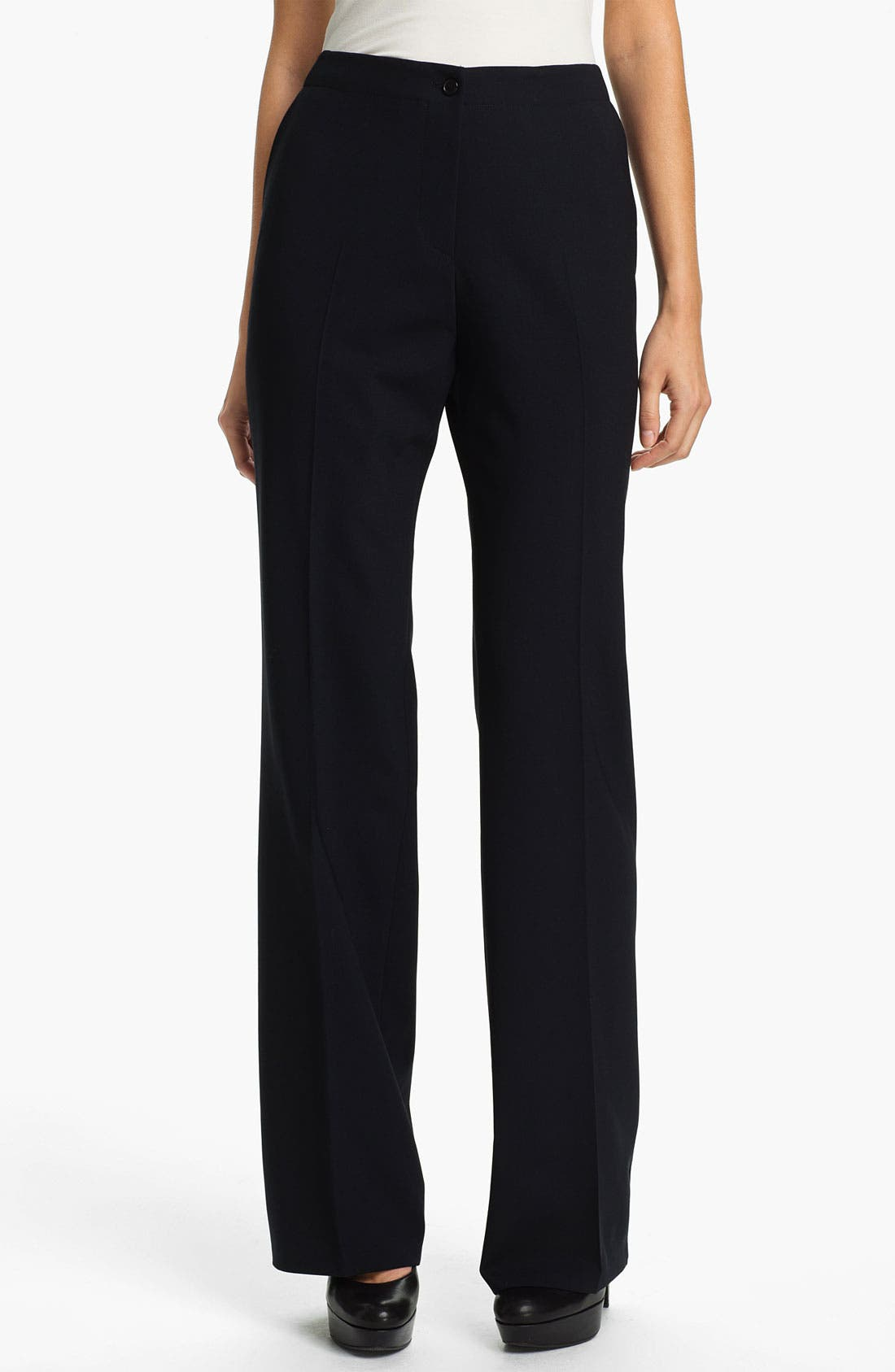 Alternate Image 1 Selected - Santorelli 'Gina' Straight Leg Wool Trousers