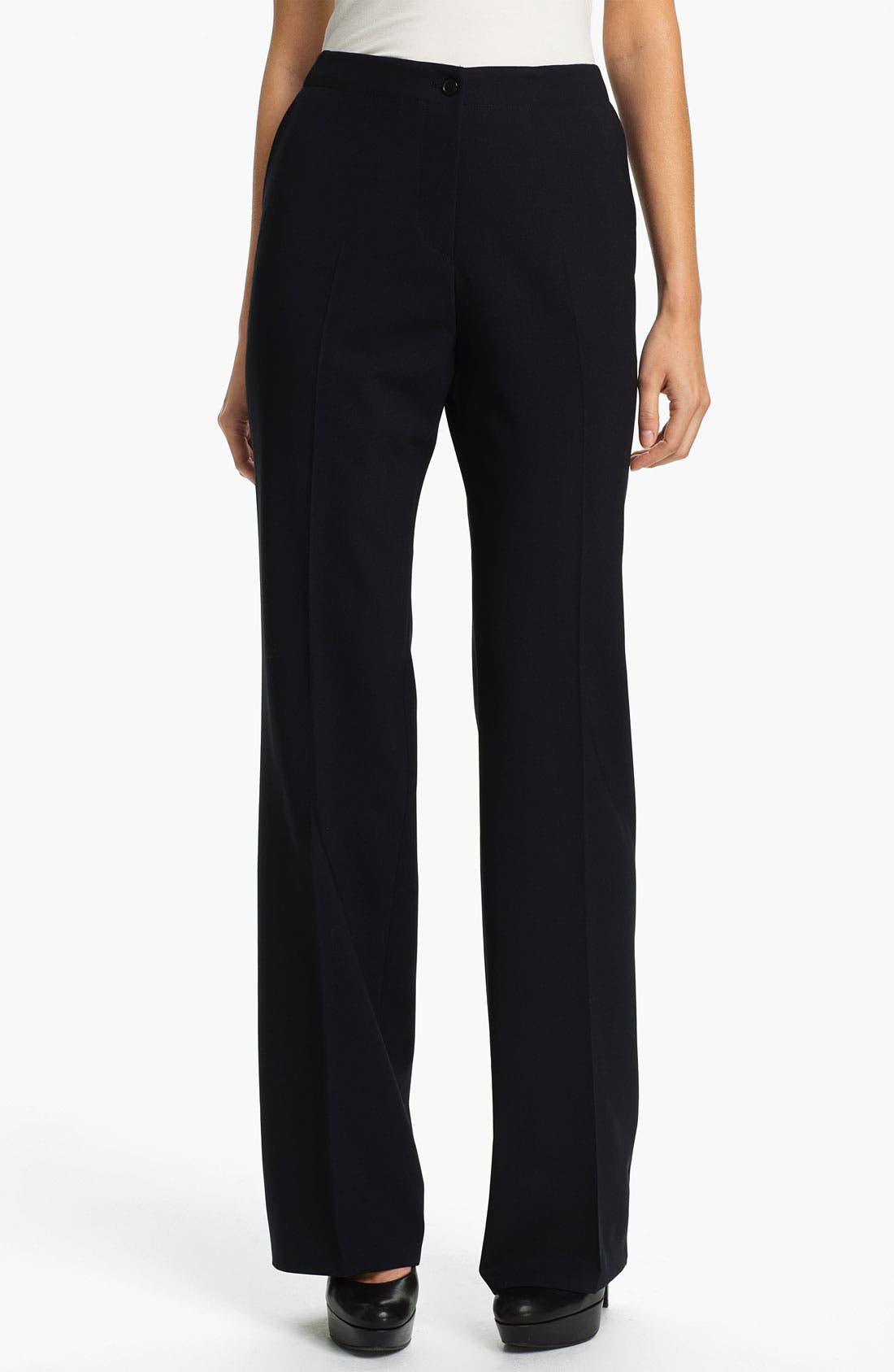 Main Image - Santorelli 'Gina' Straight Leg Wool Trousers