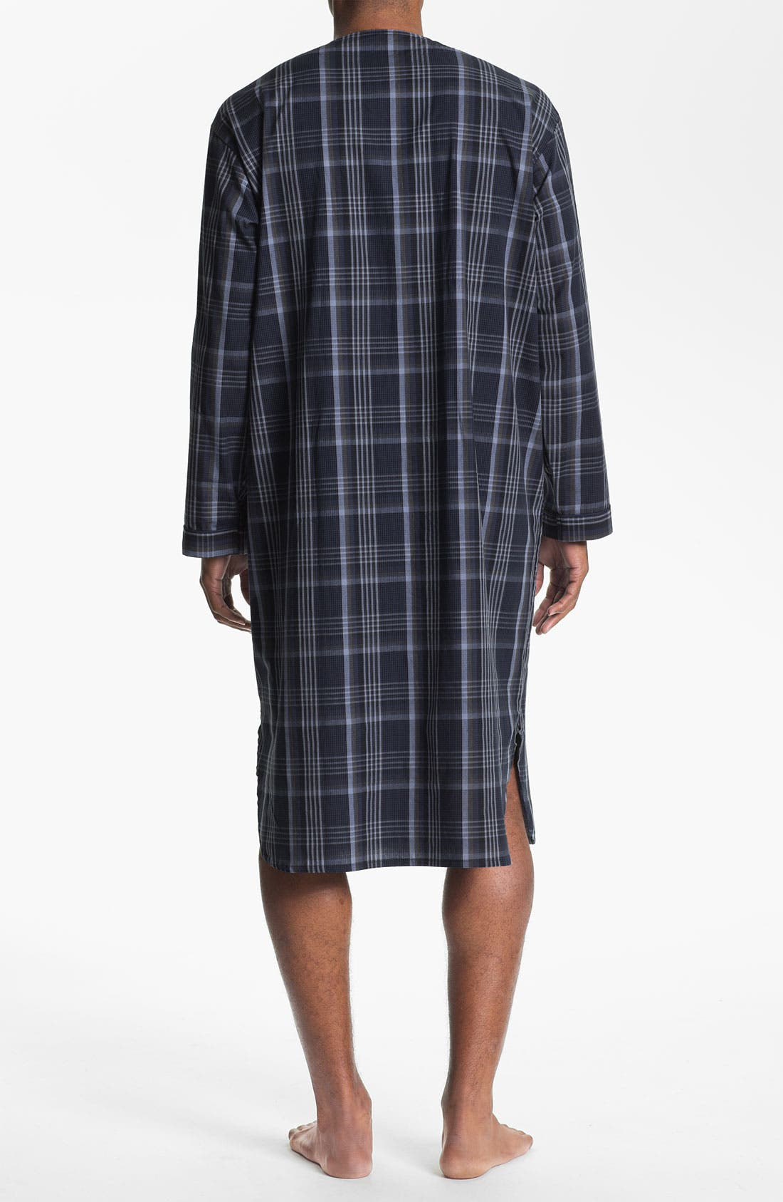 Alternate Image 2  - Majestic International Plaid Nightshirt (Big & Tall)