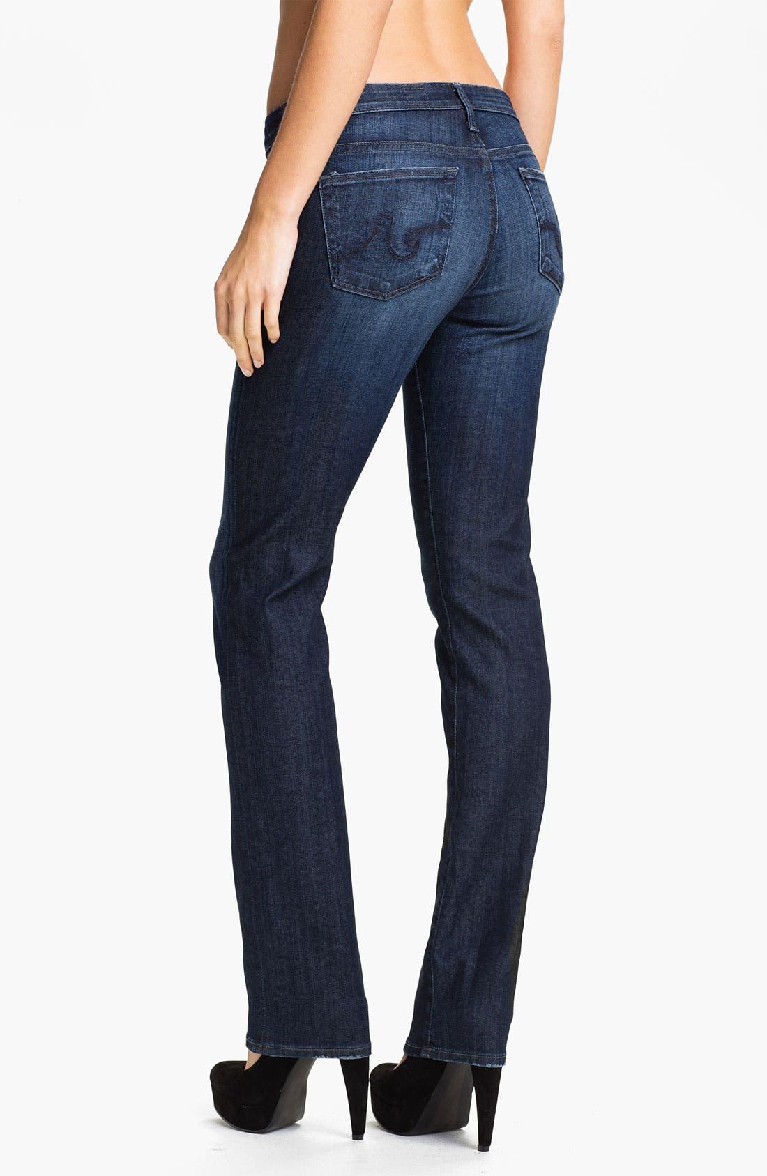 Alternate Image 2  - AG Jeans Straight Leg Stretch Denim Jeans (Savannah)