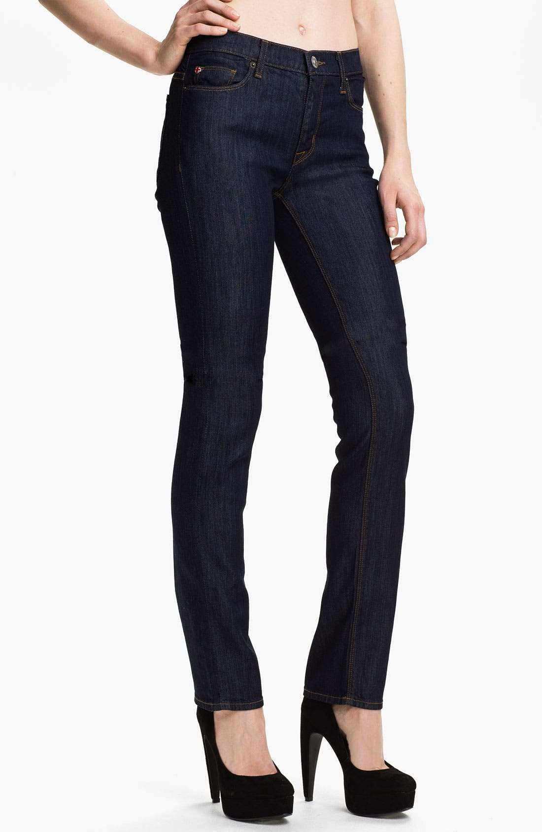 Main Image - Hudson Jeans 'Tilda' Straight Leg Stretch Jeans (Finch)