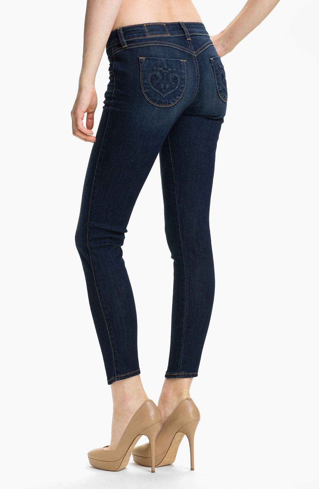Alternate Image 2  - Siwy 'Hannah' Crop Skinny Stretch Jeans (Intense Love)