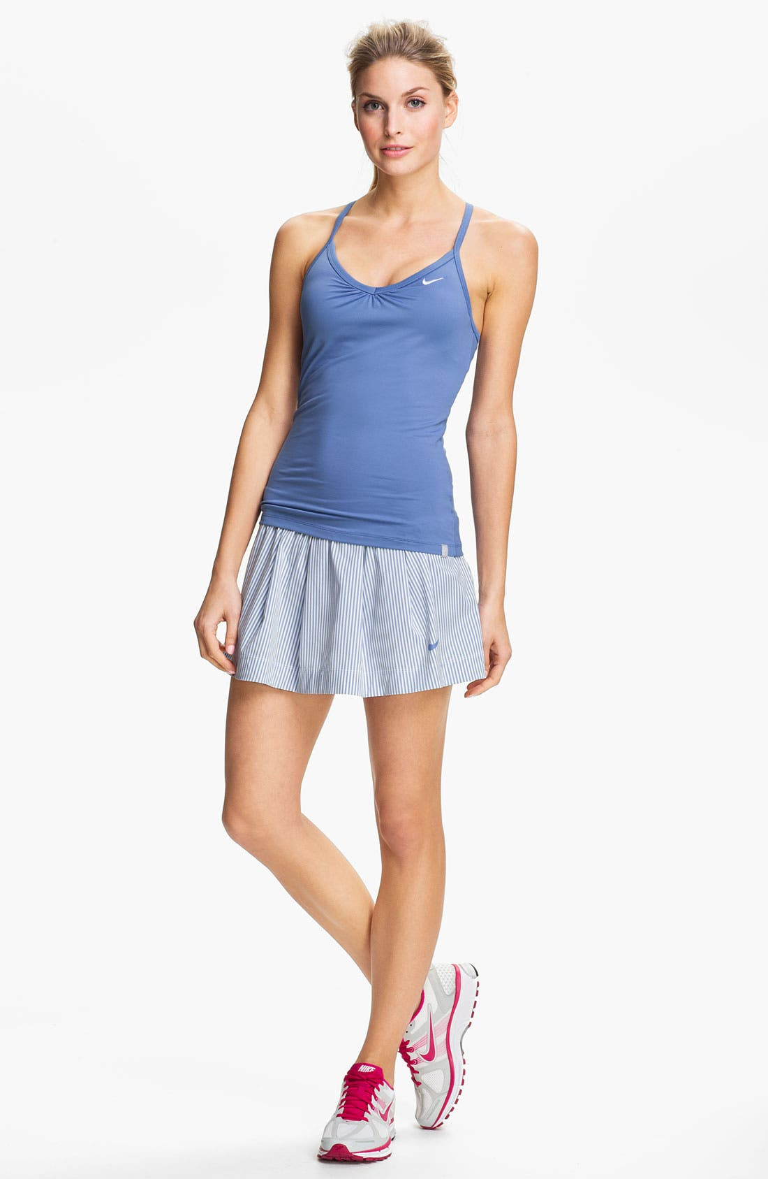 Alternate Image 2  - Nike Ruffled Woven Tennis Skirt
