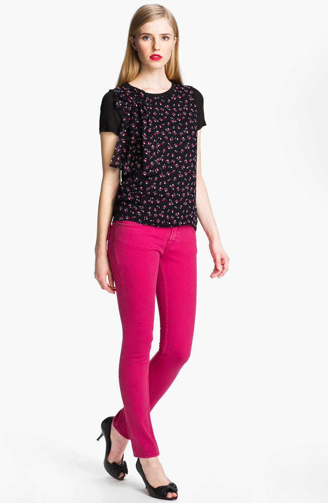 Alternate Image 1 Selected - RED Valentino Cherry Print Tee