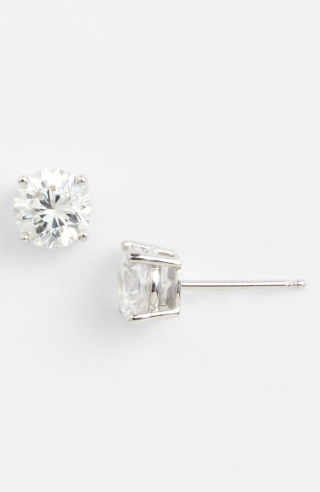 Alternate Image 1 Selected - Nordstrom Round 2ct Cubic Zirconia Earrings (Special Purchase)