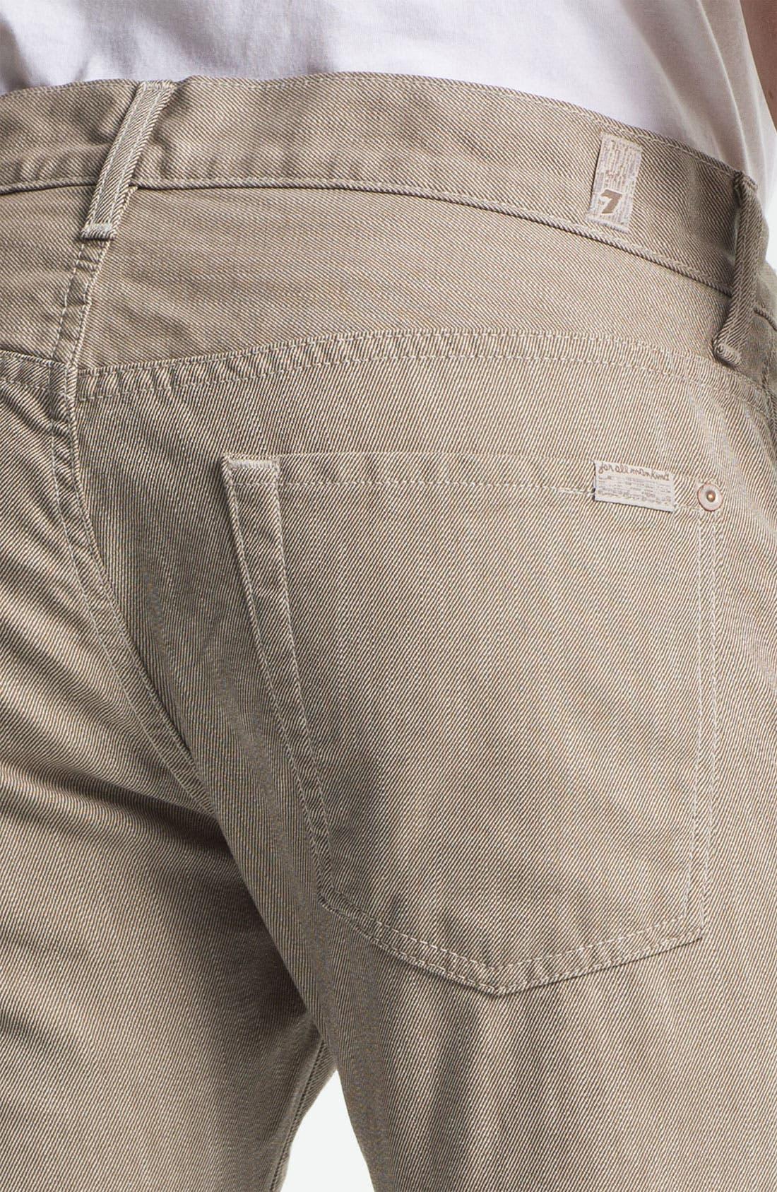 Alternate Image 4  - 7 For All Mankind® Signature Straight Leg Pants