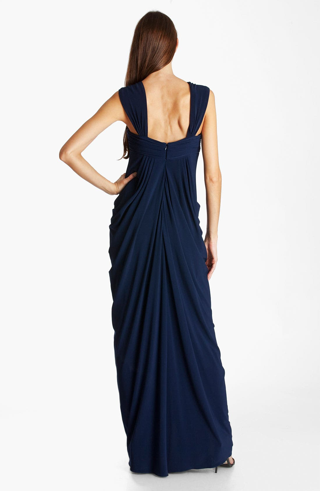 Alternate Image 2  - JS Boutique Draped Jersey Gown