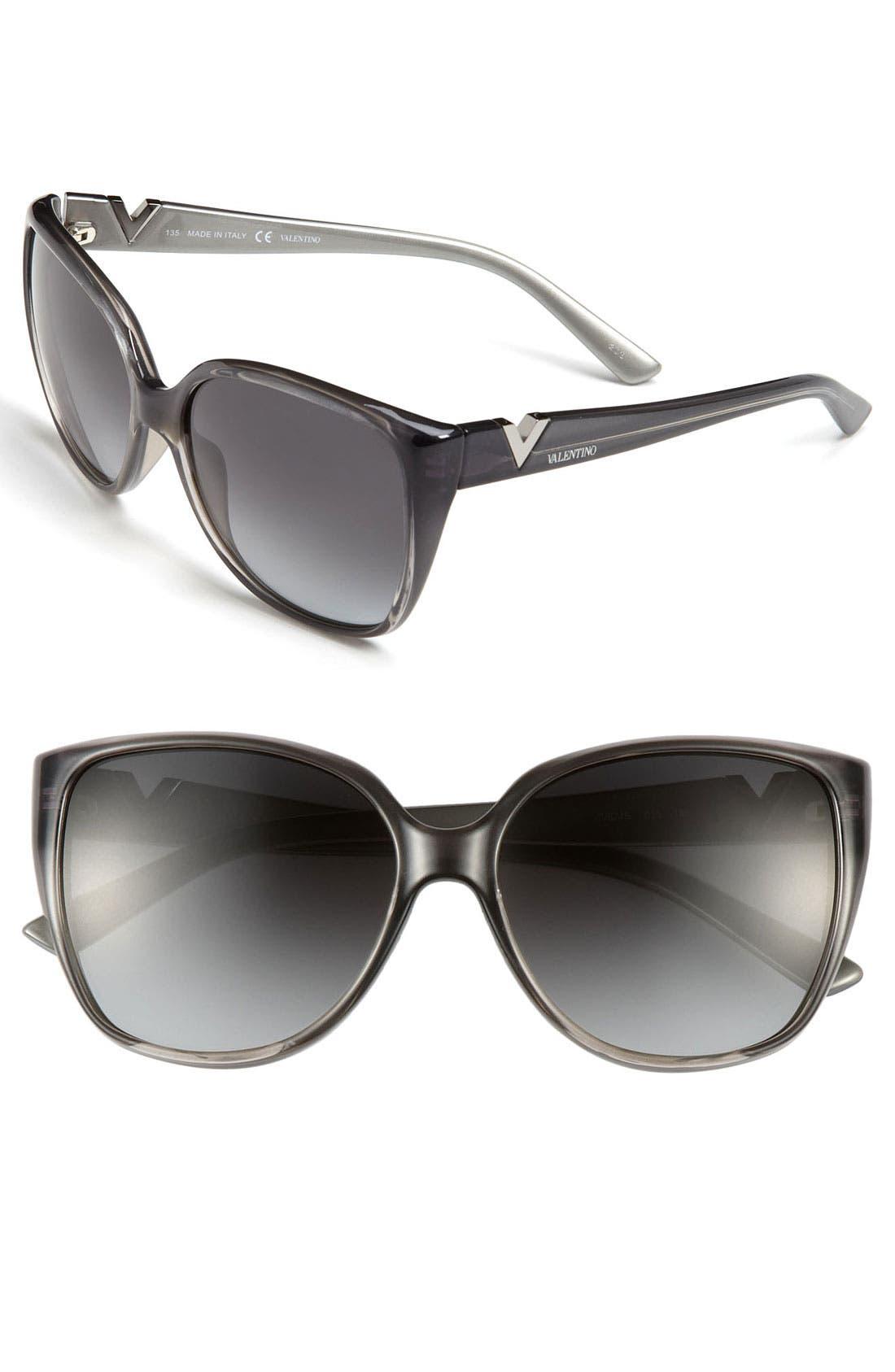 Main Image - Valentino 56mm Oversized Sunglasses