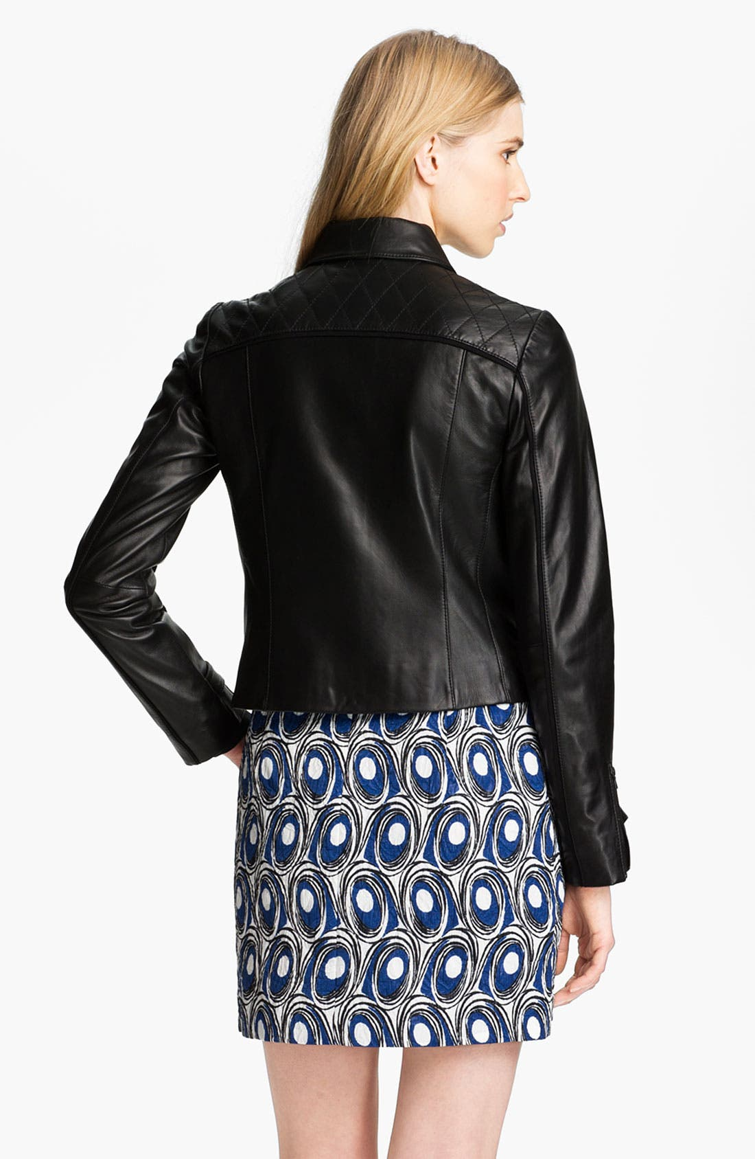 Alternate Image 4  - Miss Wu Leather Biker Jacket (Nordstrom Exclusive)