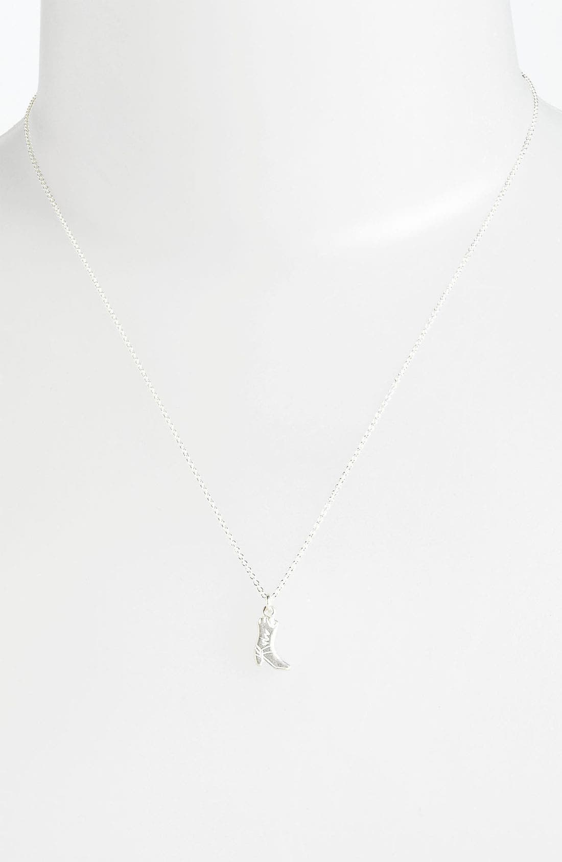 Alternate Image 2  - Dogeared 'Love' Cowboy Boot Pendant Necklace