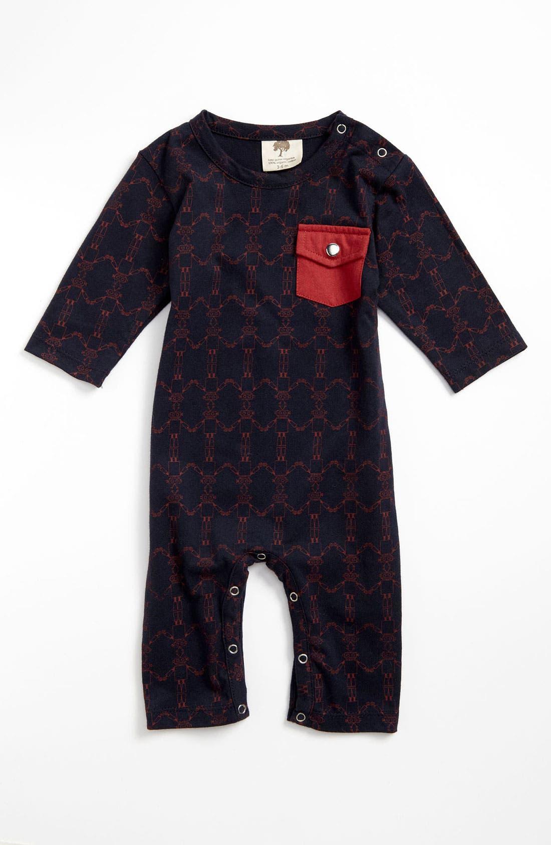Main Image - Kate Quinn Organics Pocket Romper (Infant)