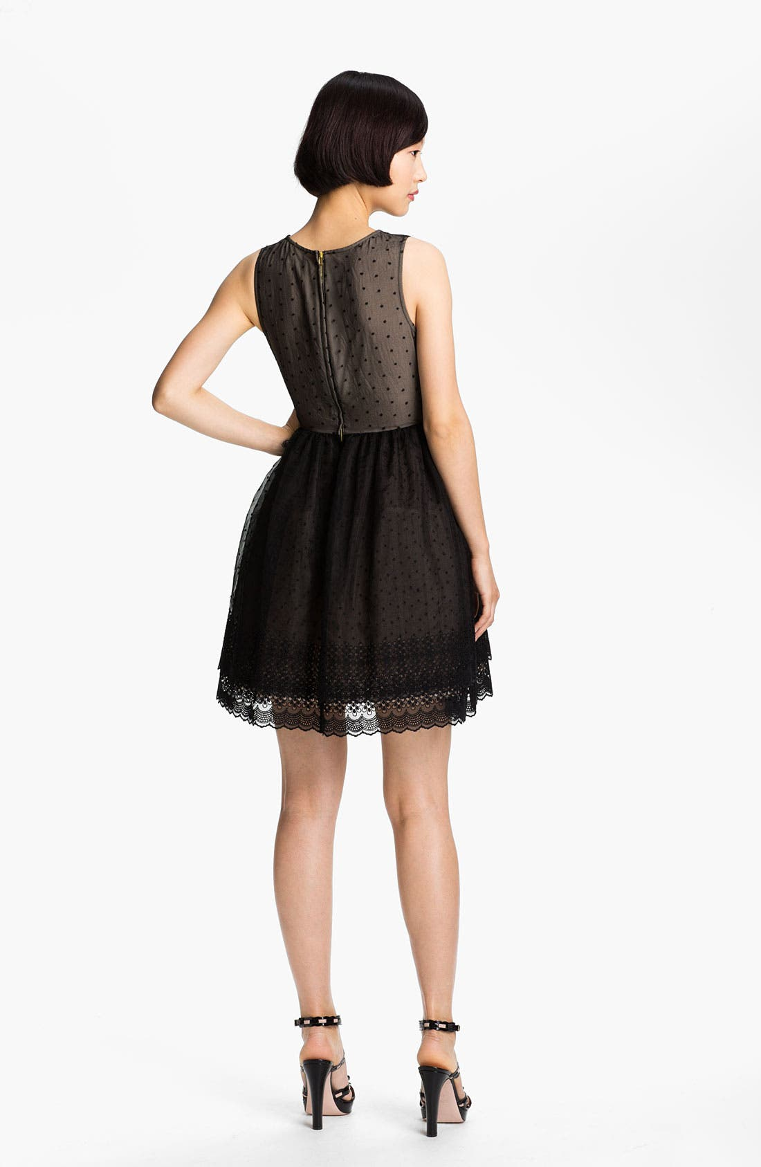 Alternate Image 2  - RED Valentino 'Chamomile' Embroidered Organza Dress