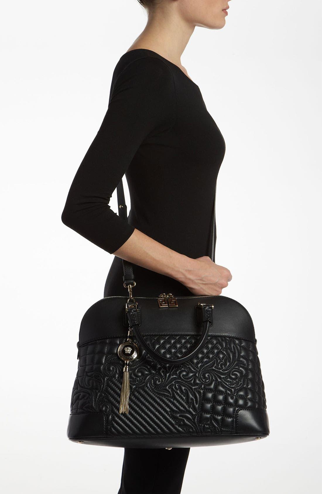 Alternate Image 2  - Versace 'Vanitas' Embroidered Leather Satchel