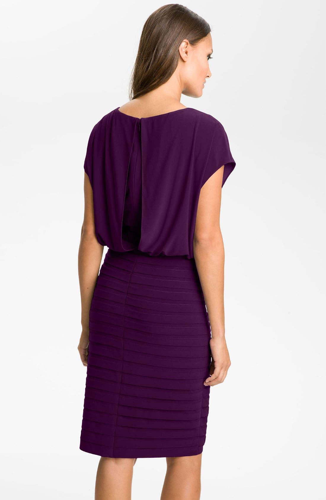 Alternate Image 2  - Adrianna Papell Blouson Shutter Pleat Jersey Dress