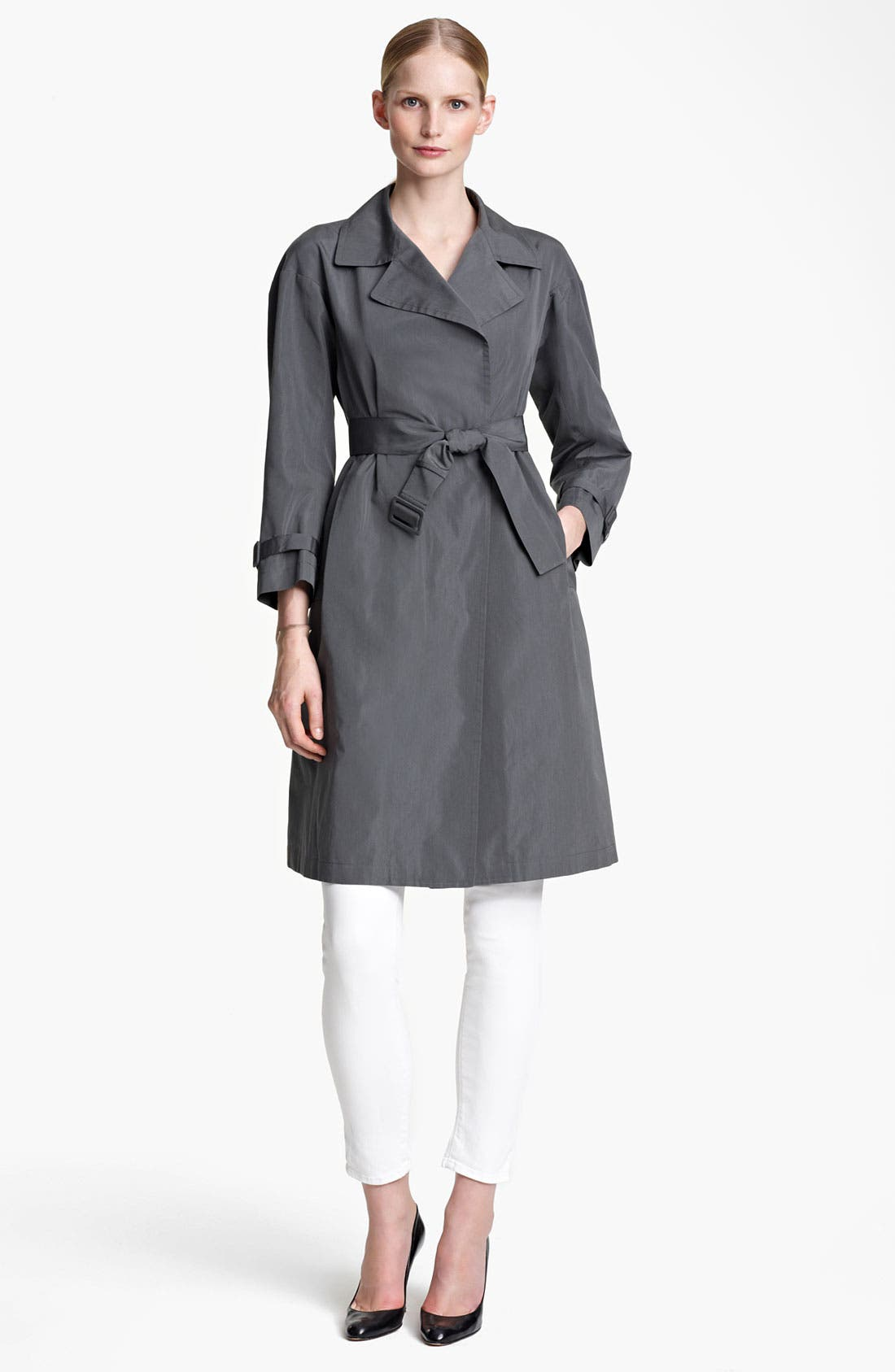 Main Image - Jil Sander Belted Technical Taffeta Trench