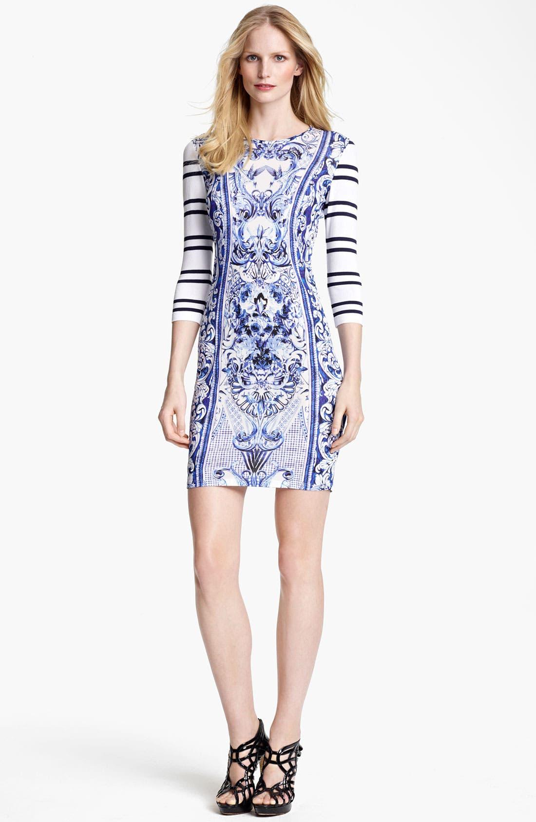 Main Image - Roberto Cavalli Mix Print Jersey Dress