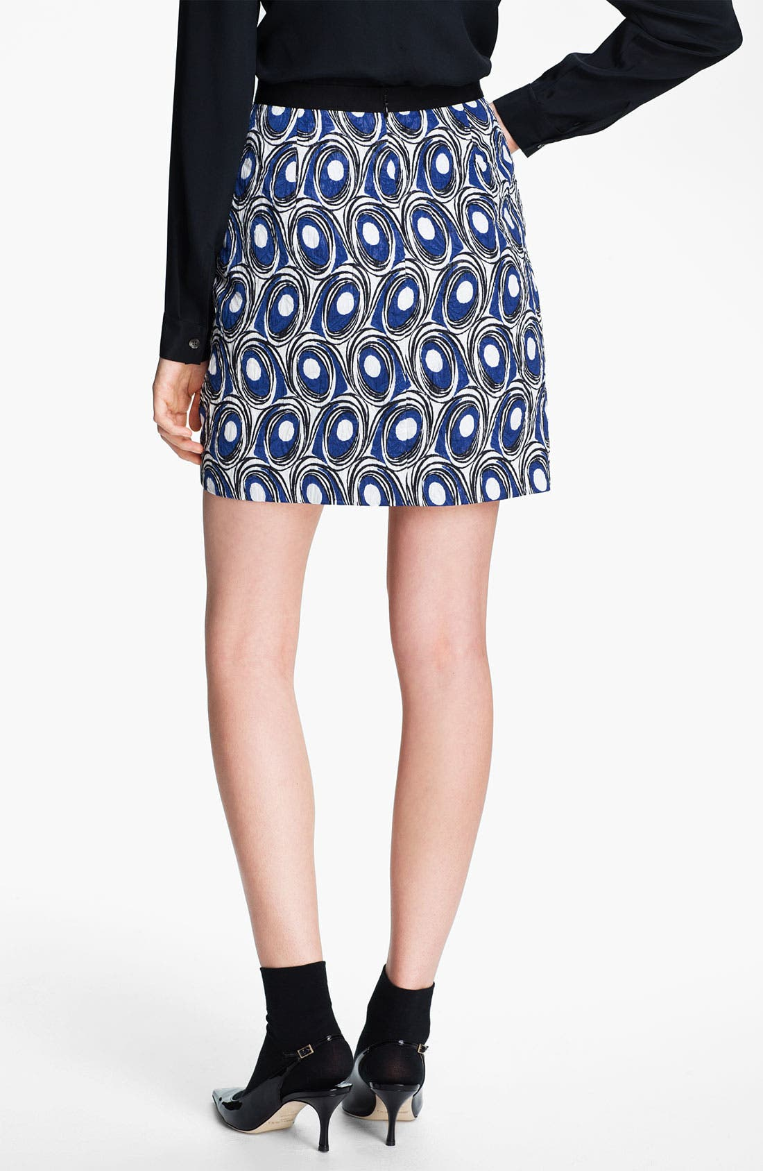 Alternate Image 2  - Miss Wu Abstract Print Jacquard Skirt (Nordstrom Exclusive)