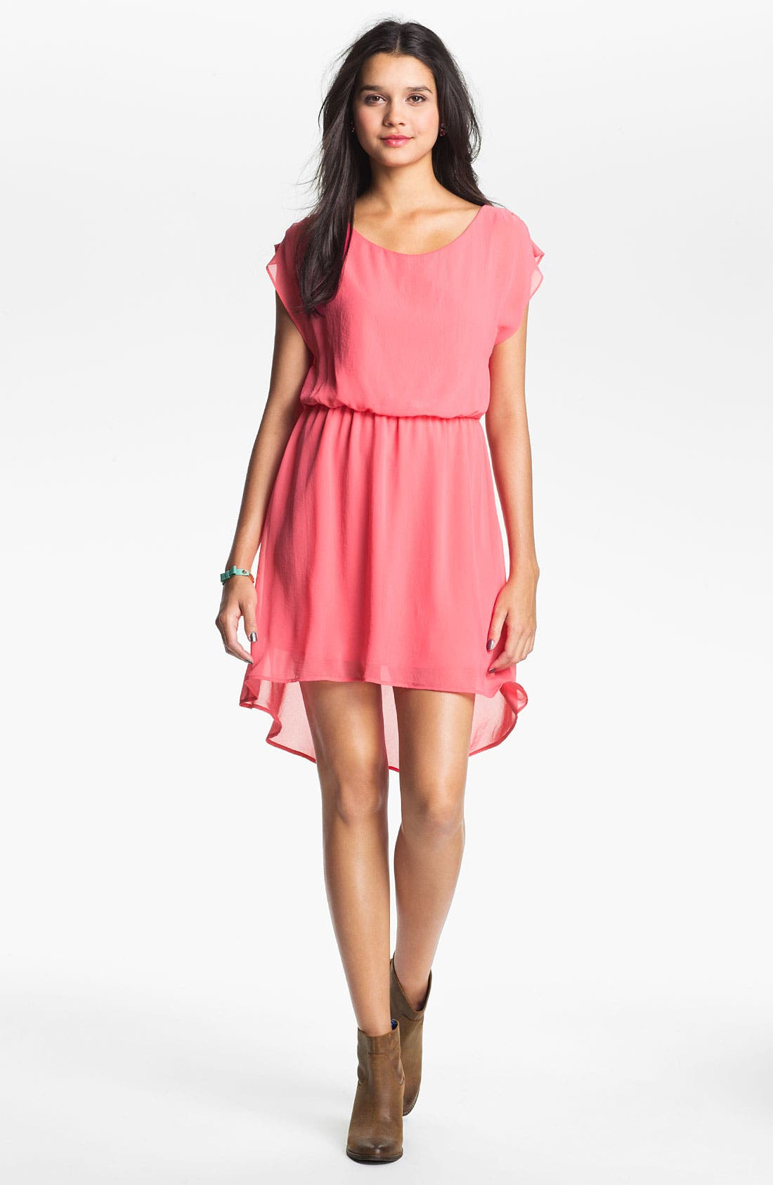 Main Image - Lush 'Dakota' Chiffon Dress (Juniors)