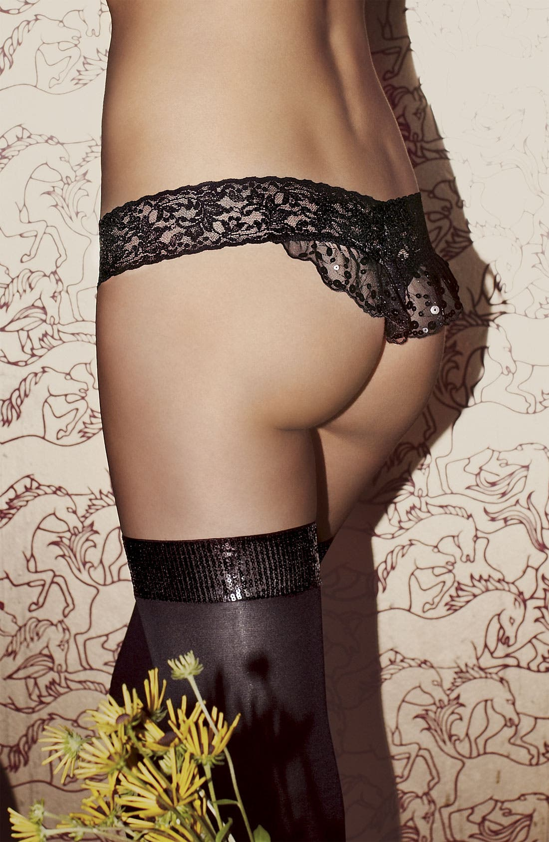 Alternate Image 4  - Hanky Panky Sequin Ruffle Low Rise Thong