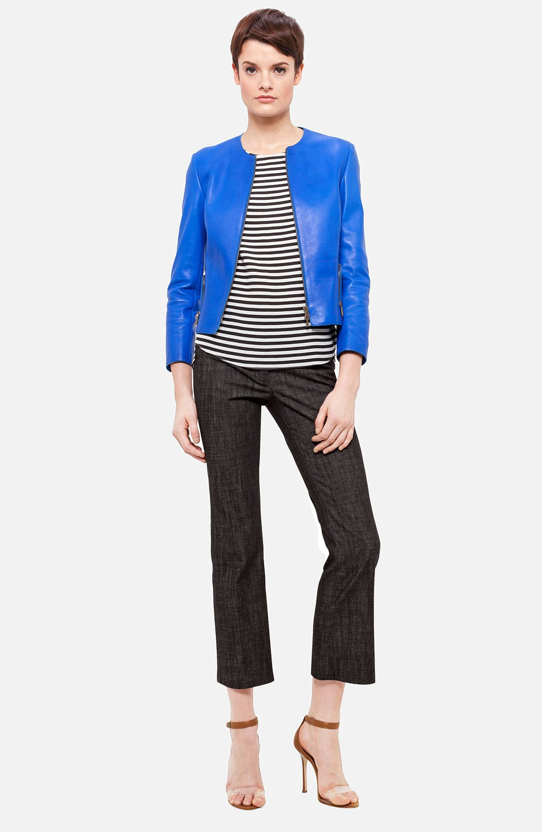 Alternate Image 4  - Akris punto Nappa Leather Jacket