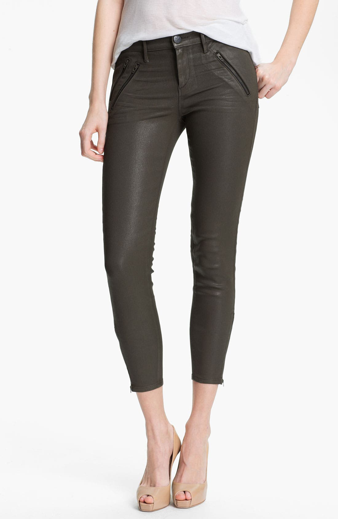 Main Image - Habitual 'Colette' Coated Skinny Stretch Jeans