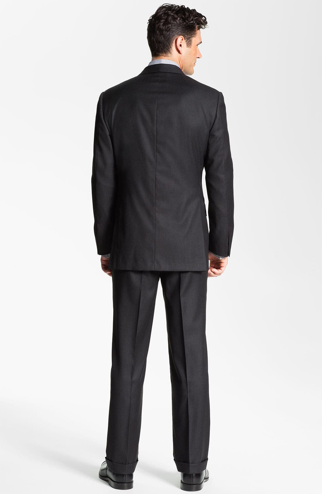 Alternate Image 3  - Hickey Freeman Charcoal Worsted Wool Suit