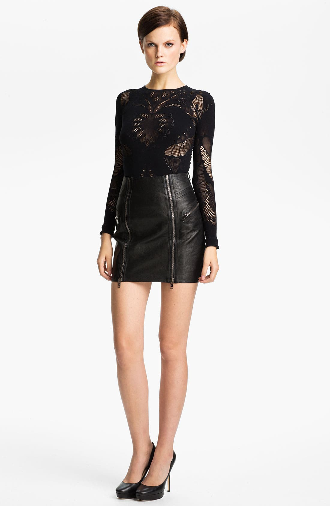 Alternate Image 1 Selected - McQ by Alexander McQueen Mesh Top